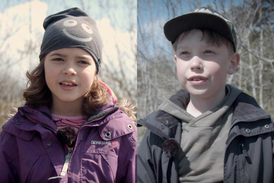 Ana och Liam intervjuas när de samlar skräp i Göteborg.