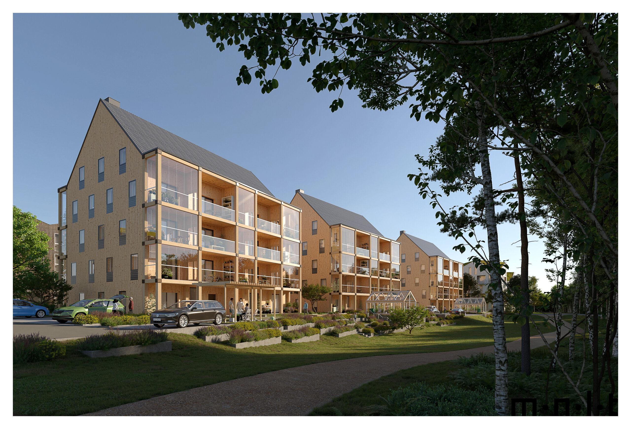 Nu kan du ställa dig i bostadskön till ETC Bygg i Växjö